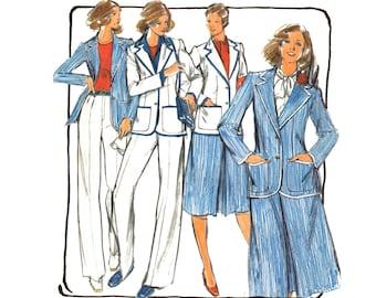 Vintage 1970s Suit Sewing Pattern Jacket Skirt Slacks Uncut size 12 Medium Bust 34 Butterick 5329 Unused