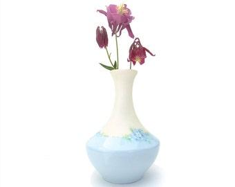 Antique Porcelain Vase Hand Painted Blue Flower Signed T&V Limoges