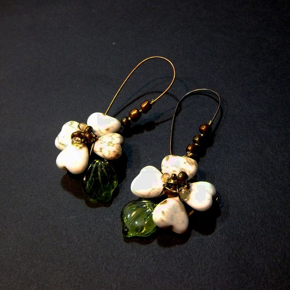 Dogwood Blossom Earrings .... 1 pair or a dozen can be customized