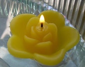 12 Sunflower Yellow floating rose wedding candles for table centerpiece and reception decor