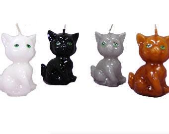 Mini cat candles 4 pc set