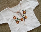 Floral Embroidered Baby Girl Tunic 18-24mos