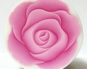 Polymer Clay PALE PINK ROSE Flower Cane