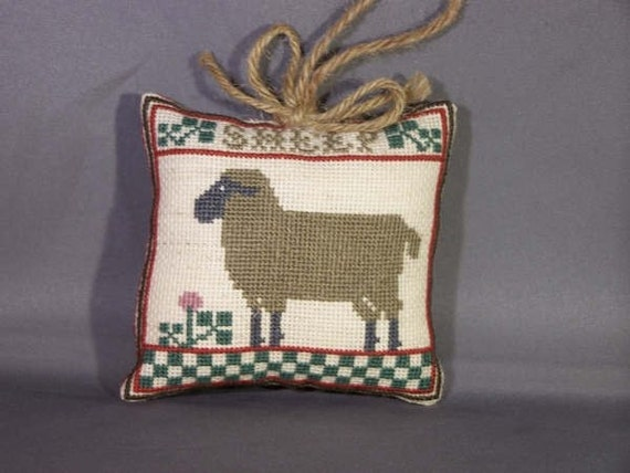 Country Sheep Ornament Counted Cross Stitch