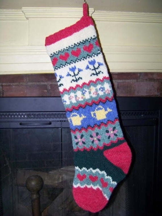 Gardener's Delight Knit Christmas Stocking Pattern