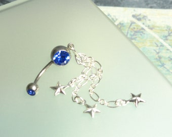 Dangling  Stars Belly Button Ring