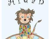 Baby Lion/Lioness Art Print, Child Print, Baby Print, Birthday or Shower Gift