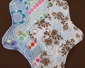 CUSTOM set of 3 - Your Choice - ULTRATHIN 8 Inch WeeEssentials Mini Pad Pantiliner or Thongliner with wings for Every Day