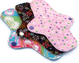 CUSTOM set of 3 - Your Choice - ULTRATHIN WeeEssentials Mini Pad Pantiliner or Thongliner with wings for Every Day