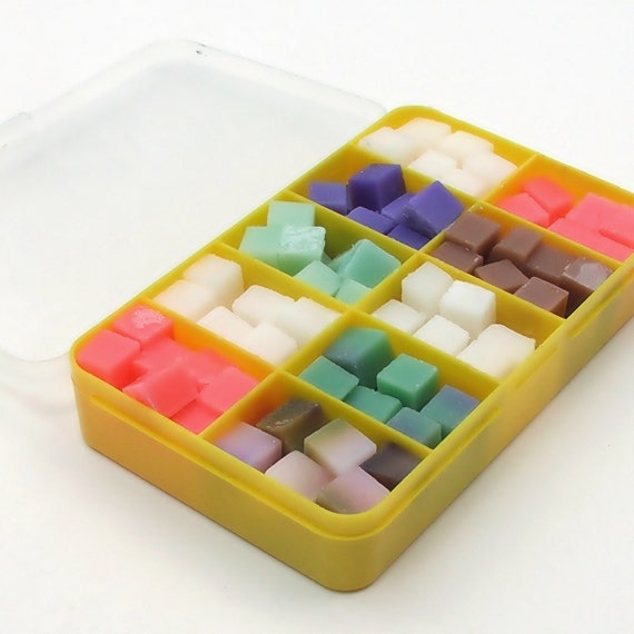 The WEE Little Sampler - a tiny sampler of all natural Soap Bit Wipe Solution Cubes - Choose your own scents