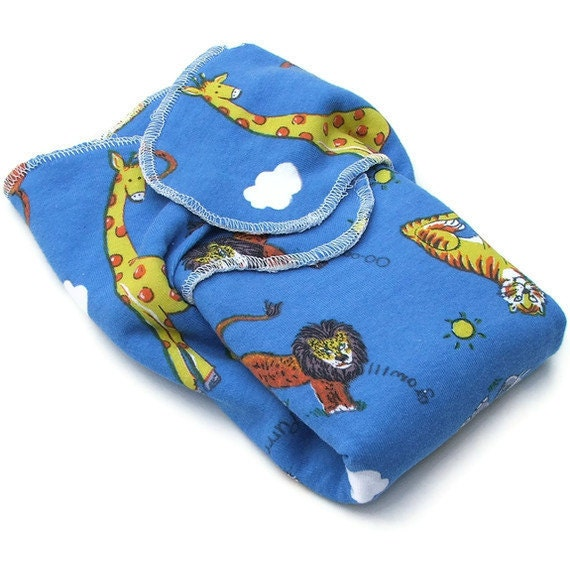 SECOND Winged Bamboo Prefold - Size TWO - Wee Essentials Wee Baby Cloth Diapers - Safari