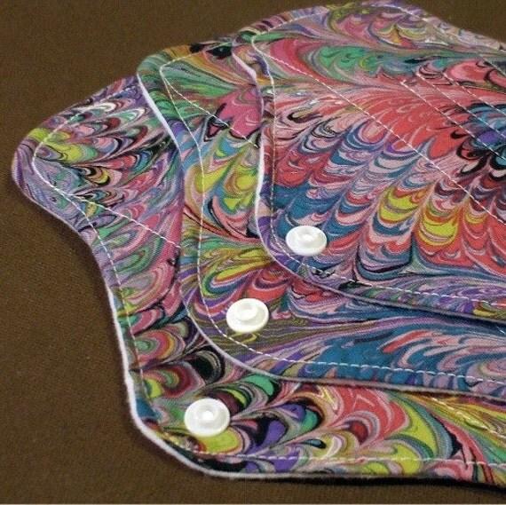 3 piece Heavy Flow CUSTOM Set - Cloth Menstrual Pads - PUL or fleece waterproofing