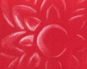 Kitchen Art Red Jello Mold Painting Mod Print