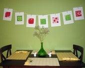 Holiday Kitchen Art for your Foodie Friends Red and Green