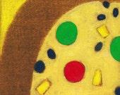 Fruitcake Painting Art Print on Canvas