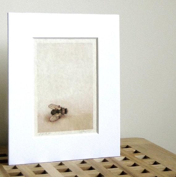 Bee Home Decor: Bee Art Neutral Wall Home Decor Print