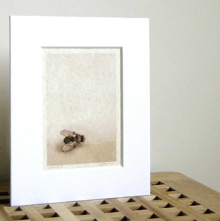 Bee art neutral wall home decor print for Bee decorations for the home