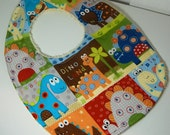 """Dinosaurs Baby Bib - Soft Cotton front with Terry Cloth Back 11"""" x 8"""""""