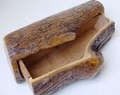 Mesquite Wood Log Drawer Box