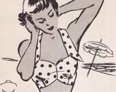"""Vintage Sewing Pattern Ladies Beach Bra PDF 34"""" Bust"""