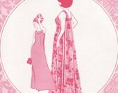 Vintage Sewing Pattern Patterns Pacifica 3016 Muu Muu Maxi Dress Mod Factroy Fold
