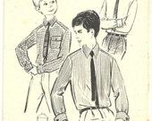 Vintage Sewing Pattern 1960's Boy's Dress Shirt French Modes de Paris  N. 830 Patron Ancien
