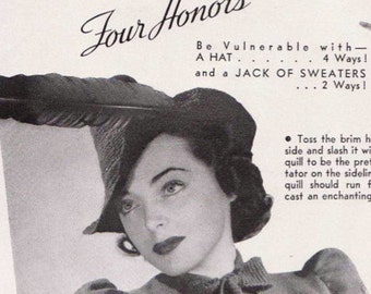 Vintage Knitting Pattern 1930's Sweater and Hat PDF Copy -INSTANT DOWNLOAD-