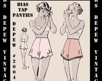 """Vintage Sewing Pattern Ladies Bias Pantie/ Tap PantsPDF Printable Copy 32"""" and 34"""" Waist Depew 2004 -INSTANT DOWNLOAD-"""