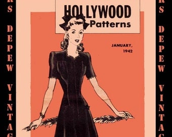 Vintage Pattern Catalog 2 Booklets in One Hollywood Patterns PDF December 1941 January 1942 -INSTANT DOWNLOAD-