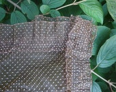 Vintage Brown Swiss Dot Sheer Curtain