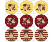 Bottle Cap Graphics Made to Match Gymboree Purrfect Autumn