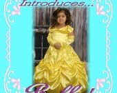 BELLE Beauty and the Beast Custom Boutique Dress Up Costume size 8/9