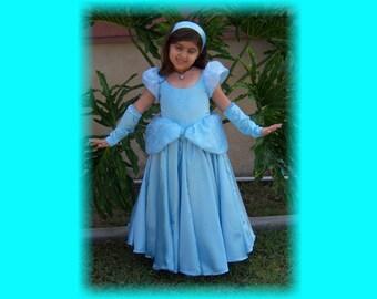 Cinderella Custom Boutique Dress Up Costume - size 3/4