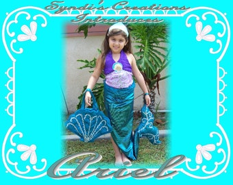 Ariel the Little Mermaid size 3/4