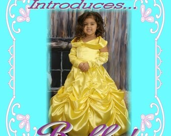 BELLE Beauty and the Beast Custom Boutique Dress Up Costume size 10/11