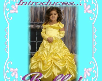 BELLE Beauty and the Beast Custom Boutique Dress Up Costume size 9/10