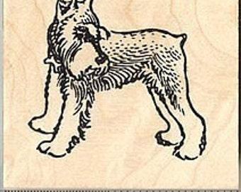 Miniature Schnauzer Rubber Stamp H8005 Wood Mounted dog