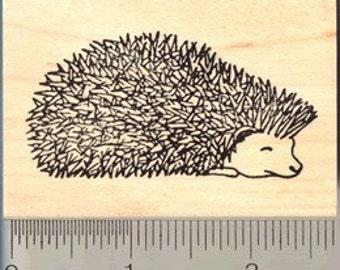 Prickly Hedgehog Rubber Stamp Wood Mounted G075