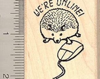Online hedgehog Rubber Stamp G7901 Wood Mounted