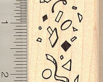 Confetti Rubber Stamp G9607 - Wood Mounted
