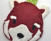 Red Panda Pass Case PDF Pattern