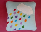 Rainbow Drops Mobile and Cushion PDF Sewing Pattern