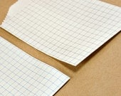 CLEARANCE - Graph Paper Tiny Paper Treat Bags with Blue Grid - Qty 10