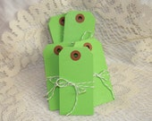 CLEARANCE - Colored Shipping Tags - Medium - Lt Green - 10 pack