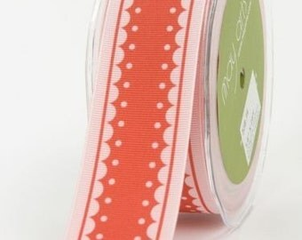 CLEARANCE - May Arts Polyester Grosgrain Ribbon Raspberry