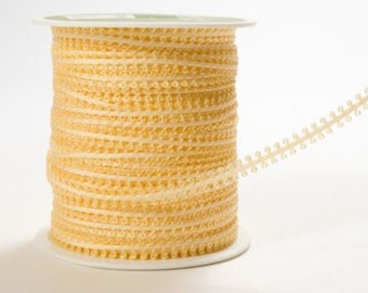 CLEARANCE - String Loop Ribbon Apricot - 3 Yard Bundle