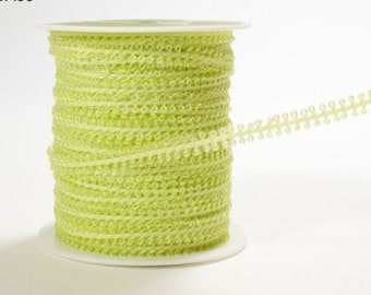 CLEARANCE - String Loop Ribbon Celery - 3 Yard Bundle