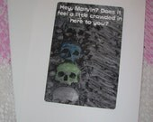 Blank Greeting Card 003 - Hey Marvin