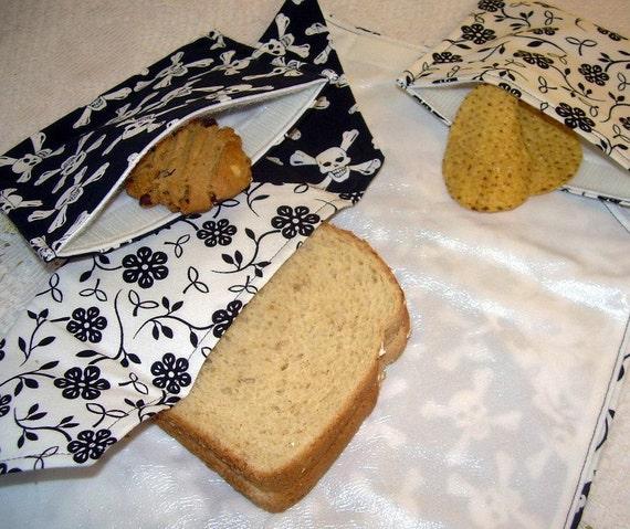 Sammie Mat Reusable Lunch Set - 1 sandwich wrap & mat and 2 matching snack bags