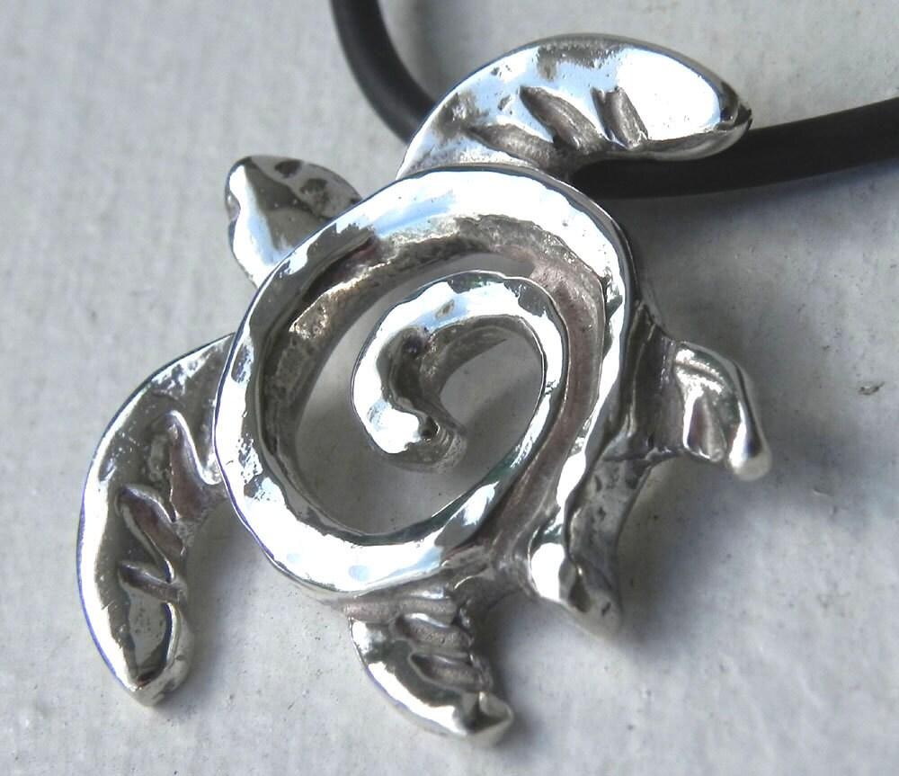 sea turtle necklace silver turtle totem pendant unique